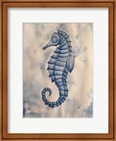 Framed Blue Sea Horse