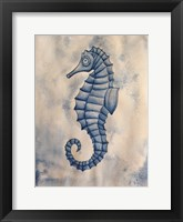 Framed Blue Sea Horse