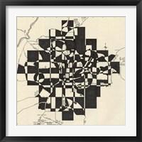 Framed Modern Map of Atlanta