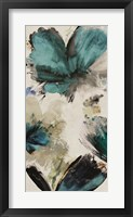 Blue Ribbon Blooms I Framed Print