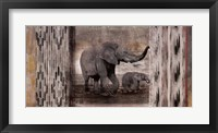 Framed Tribal Elephants