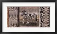 Framed Tribal Zebras