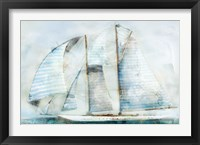 Framed Sailboat Blues