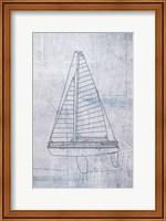 Framed Danielas Sailboat II