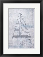 Framed Danielas Sailboat II
