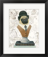 Canine Couture Newsprint III Framed Print
