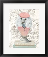 Canine Couture Newsprint IV Framed Print