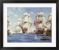 Framed Battle of Trafalgar