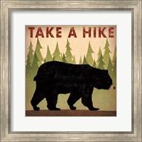 Framed Take a Hike Black Bear