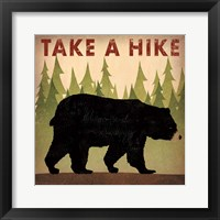 Framed Take a Hike Black Bear