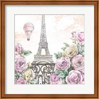 Framed Paris Roses VI