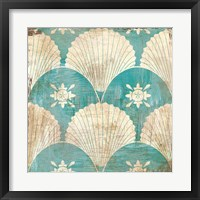 Framed Bohemian Sea Tiles I