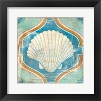 Framed Bohemian Sea Tiles II