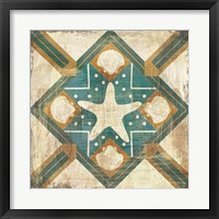 Framed Bohemian Sea Tiles IV