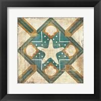 Framed Bohemian Sea Tiles IV