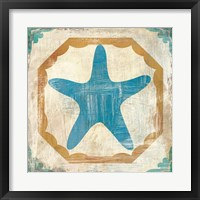 Framed Bohemian Sea Tiles IX