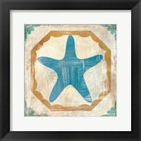 Framed Bohemian Sea Tiles IX