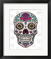 Sugar Skull III on Gray Framed Print