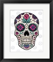 Sugar Skull IV on Gray Framed Print