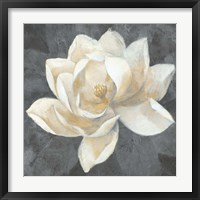 Framed Majestic Magnolia Neutral Sq