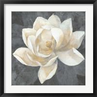Framed Majestic Magnolia Neutral Sq