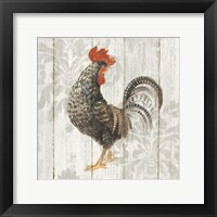 Farm Friend II on Barn Board Framed Print