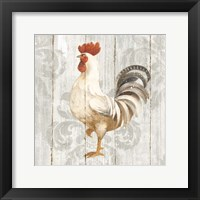 Farm Friend IV on Barn Board Framed Print