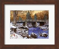 Framed Bridge Over Glade Creek - West Virginia