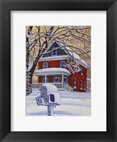 Framed Snow On The Mailbox
