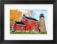 Framed Charlotte-Genesee Lighthouse, Rochester, Ny
