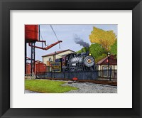 Framed Engine #90 At The Water Tower, Strasburg Pa