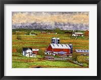 Framed Farm Country, Lancaster Co, Pa