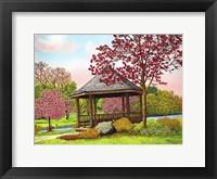 Framed Green Lake Gazebo, Orchard Park, Ny
