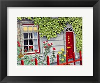 Framed Ireland - Red Fence, Adare Co Limerick