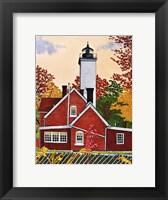 Framed Presque Isle Light, Erie Pa