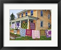 Framed Quilts Nine On The Line, Lancaster, Pa