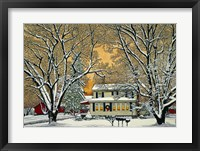 Framed Christmas In The Country
