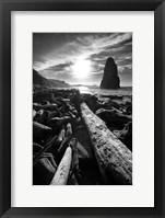 Framed Driftwood Sun 1 Silver
