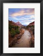 Framed Zion River Vert