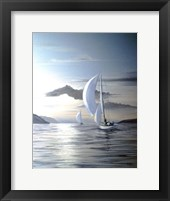 Framed White Sails