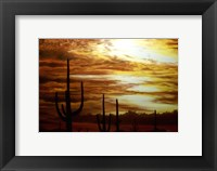 Framed Cactus Sunset