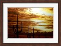 Framed Cactus Sunset