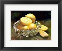 Framed Lemon In Glass