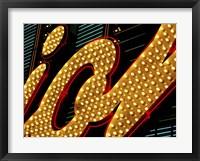 Framed Las Vegas Neon