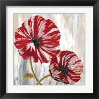 Framed Red Poppies I