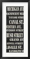 Framed Chicago Streets