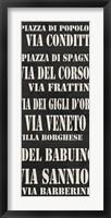 Rome Streets Framed Print