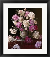Framed Peonies in a Japanese Vase