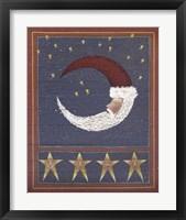 Framed 3 Half Moon Santa