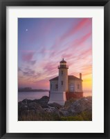 Framed Lighthouse Moon